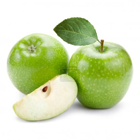 Photo for Green apples isolated - Royalty Free Image