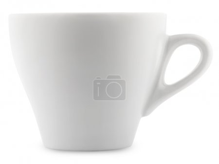 Photo pour Coupe blanche isolée sur fond blanc - image libre de droit