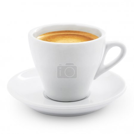 Caffe espresso isolated on white