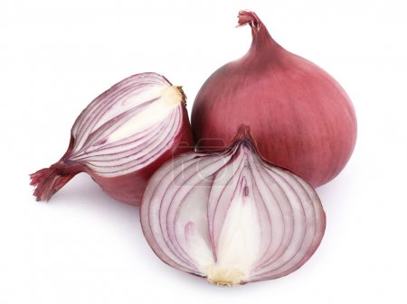 Photo for Red onion on white background - Royalty Free Image