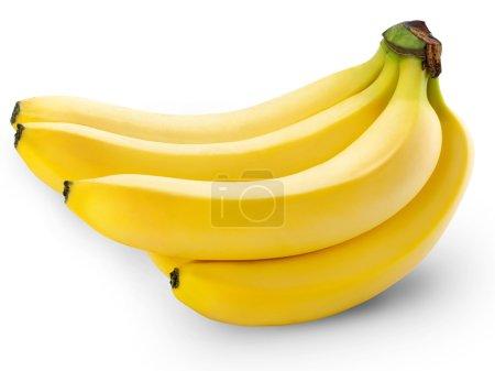 Photo for Bananas isolated on white background - Royalty Free Image