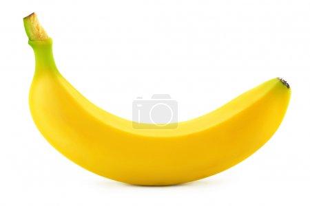 Photo for One banana on white background - Royalty Free Image