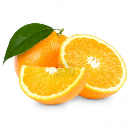 Photo pour Orange fruit isolé sur blanc backgroun - image libre de droit