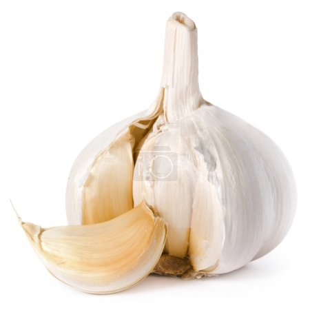 Photo for Garlic isolated on white background - Royalty Free Image