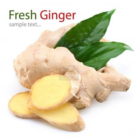 Photo for Ginger isolated on white background - Royalty Free Image