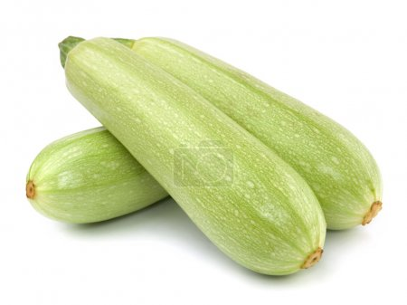 Fresh vegetable marrow. Isolated on white
