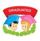 Graduated students vector illustration