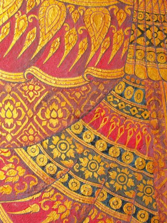 Wall art painting and texture in temple Thailand. painting about