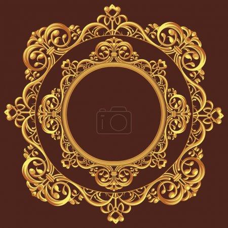 Foto de Un conjunto de vectores de un hermoso adorno, consisten en muchos adornos individuales. aspecto lujoso y exclusivo, este vector es muy bueno para tarjeta, folleto, invitación u otra aplicación que necesita mirada exclusiva - Imagen libre de derechos