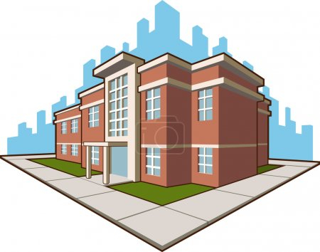 A vector set of a school building. This vector is very good for card, brochure, or other application about education and school. Available as a Vector in EPS8 format that can be scaled to any size without loss of quality.