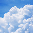 High detail cloud on blue sky background...