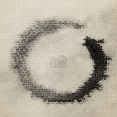 Zen symbol watercolor painted