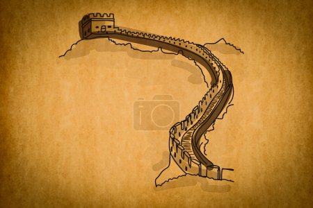 Free hand sketch collection: Wonder Great Chinese Wall