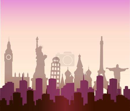 Photo pour Villes du monde, vue urbaine - image libre de droit