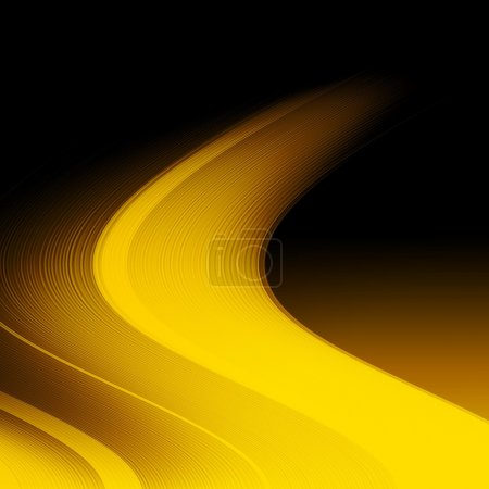 Foto de Abstract blurred background with yellow curved lines - Imagen libre de derechos