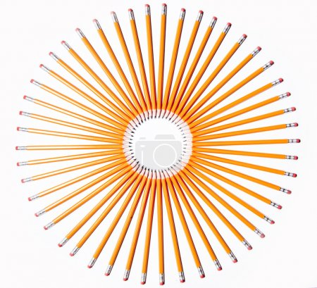 Pencils in form of a circle