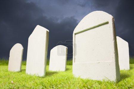 Graveyard at dark night