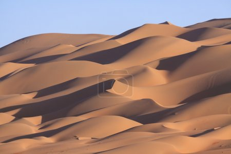 Lines of sand dunes