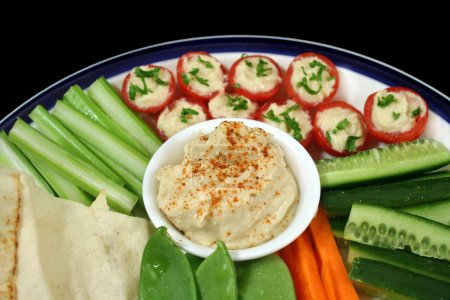 Photo for Entertaining platter with a combination of healthy finger food. - Royalty Free Image