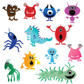 Cute little monsters having fun
