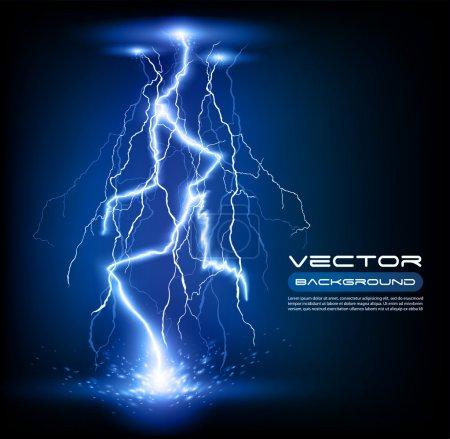 Vector lightning flash strike background...