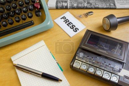 1980s Journalist's Desk