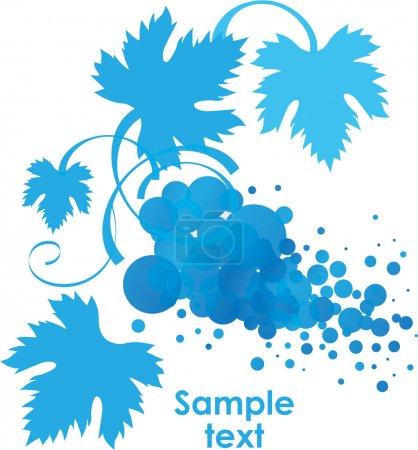 Illustration pour Branche de vigne stylisée avec feuilles, illustration vectorielle - image libre de droit