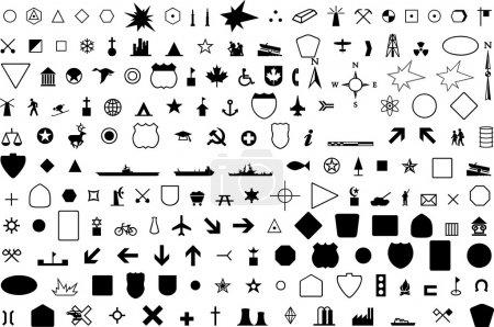 Illustration pour Symbole géographique - image libre de droit