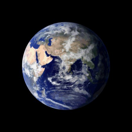 Illustration for Planet Earth from space - Royalty Free Image