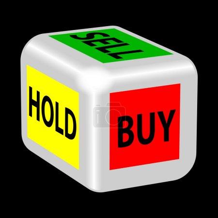 Illustration pour Acheter, vendre, garder le jeu - image libre de droit