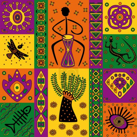 Illustration for African pattern - Royalty Free Image