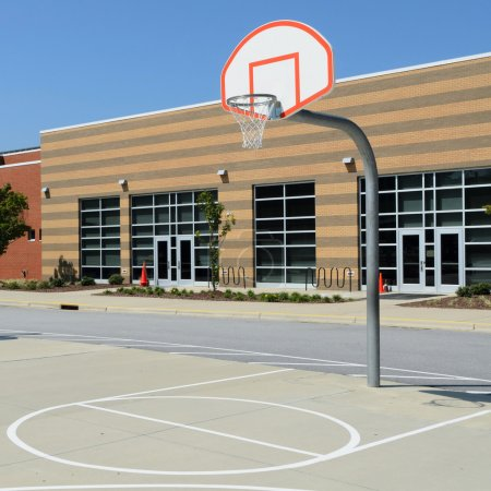 Photo for School yard basketball court - Royalty Free Image