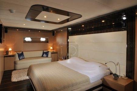Chic bedroomof yacht