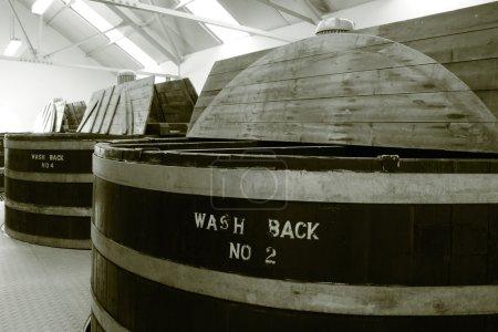 Whisky distillery wash backs
