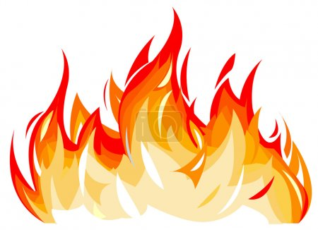 Illustration for Vector illustration of flames - Royalty Free Image