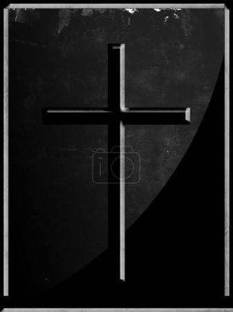 Photo pour Croix sombre sur fond sombre - image libre de droit