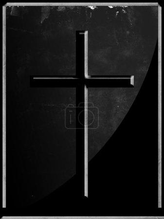Photo for Dark cross on dark background - Royalty Free Image