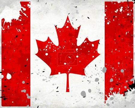 Grunge Canada flag with stains