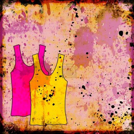 Photo pour Chemises de sport sur fond grunge - image libre de droit
