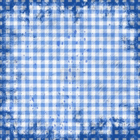 Photo for Grunge illustration of picnic tablecloth - Royalty Free Image