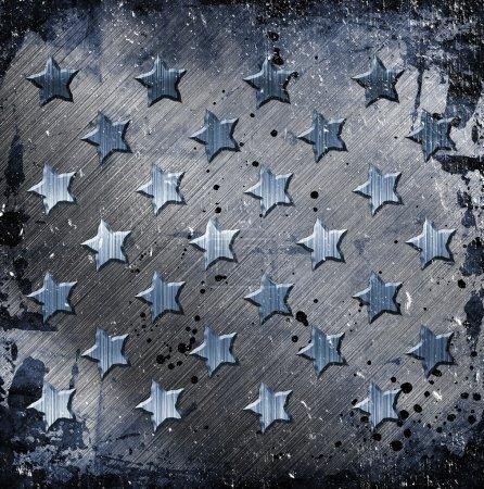 Foto de Grunge militar con estrellas - Imagen libre de derechos