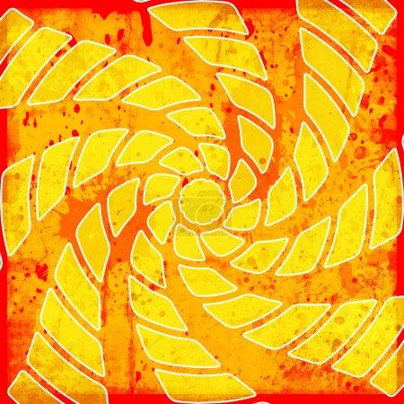 Vivid background with twirl