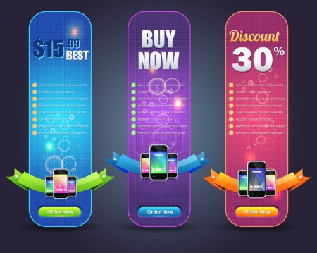 Shiny Vertical Web Banner