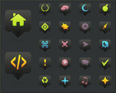 Clean Vector Icon Set 01 Dark Version