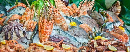 Fresh seafood arrangement