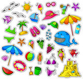 Big collection of summer icons