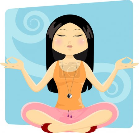 Illustration for Girl in yoga position - Royalty Free Image