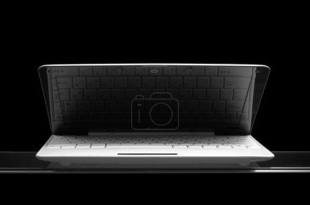 White notebook on black background