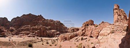 Panorama of city of Petra