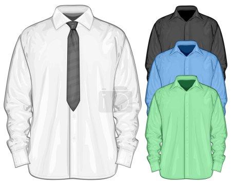Color dress shirt. Front view